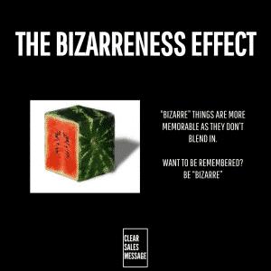 THE BIZARRENESS EFFECT