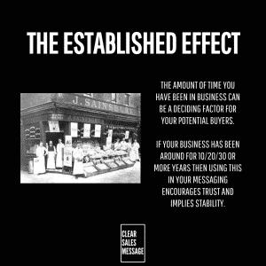 THE ESTABLISHED EFFECT
